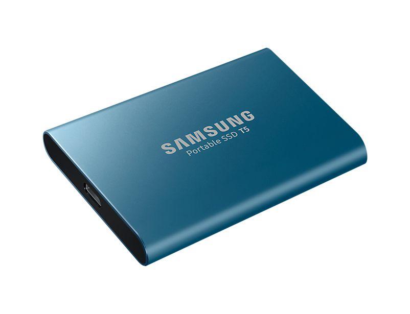 MU-PA500B/EU - Unidad externa de estado sólido Samsung T5 500 GB Azul