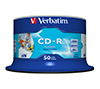 Foto de CD-R Verbatim 52x 700Mb Printable Spindle 50 (43438)