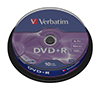 Foto de DVD+R Verbatim 4.7Gb 16x Spindle 10 (43498)